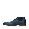 Chaussures à lacets en cuir avec élastique - bleu