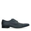 Chaussures à lacets en cuir avec imprimé - bleu
