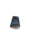 Chaussures à lacets en cuir avec imprimé - bleu foncé