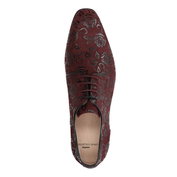 Chaussures à lacets en cuir - bordeaux