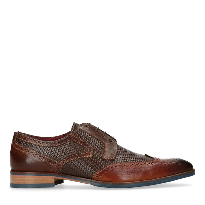 Brogues en cuir - marron