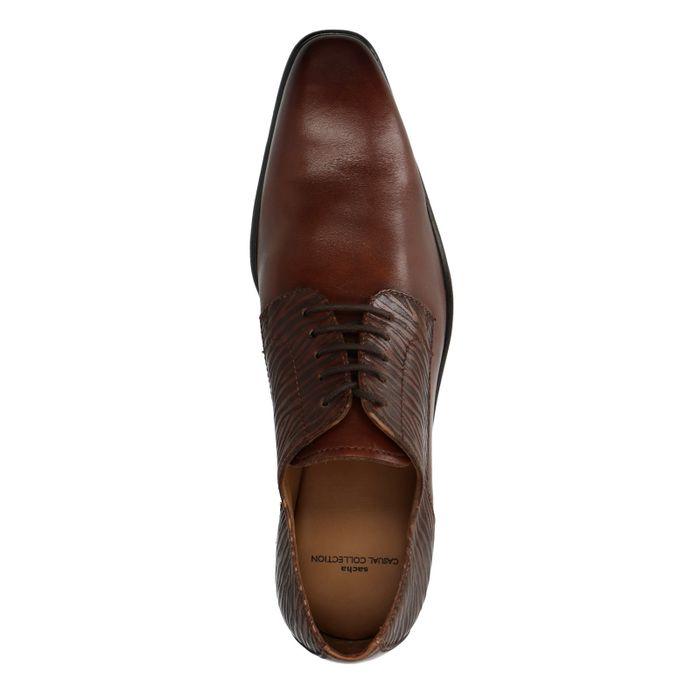 Chaussures à lacets en cuir avec détail - marron