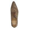 Chaussures à lacets en cuir avec imprimé zèbre