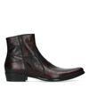 Boots basses en cuir - bordeaux