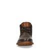 Chaussures à lacets montantes en cuir - marron