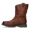 Boots montantes en cuir - marron