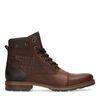 Boots à lacets en cuir avec imprimé croco - marron
