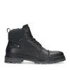 Boots à lacets montantes en cuir - noir