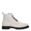 Boots à lacets en cuir - blanc cassé