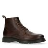 Boots à lacets en cuir - marron foncé