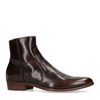 Boots basses en cuir - marron foncé