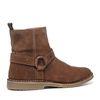 Boots en cuir - camel