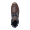 Chaussures à lacets en cuir montantes casual - marron
