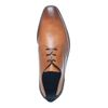 Chaussures à lacets en cuir avec empiècement - marron