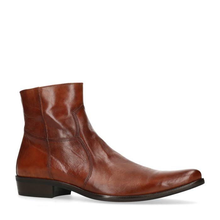 Boots en cuir - marron
