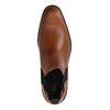 Chelsea boots en cuir - cognac