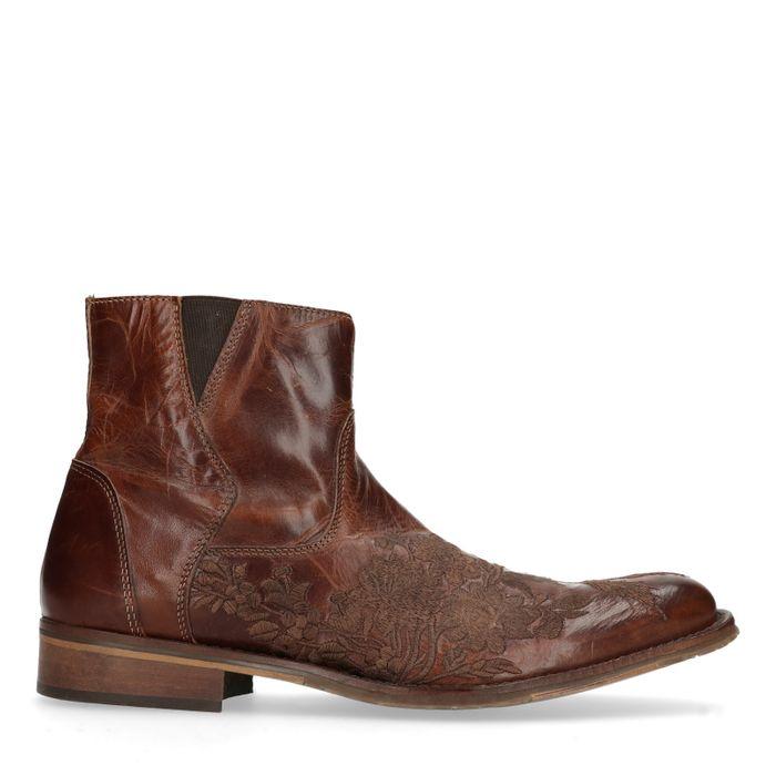 Boots en cuir basses - marron