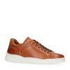 Baskets basses en cuir - marron