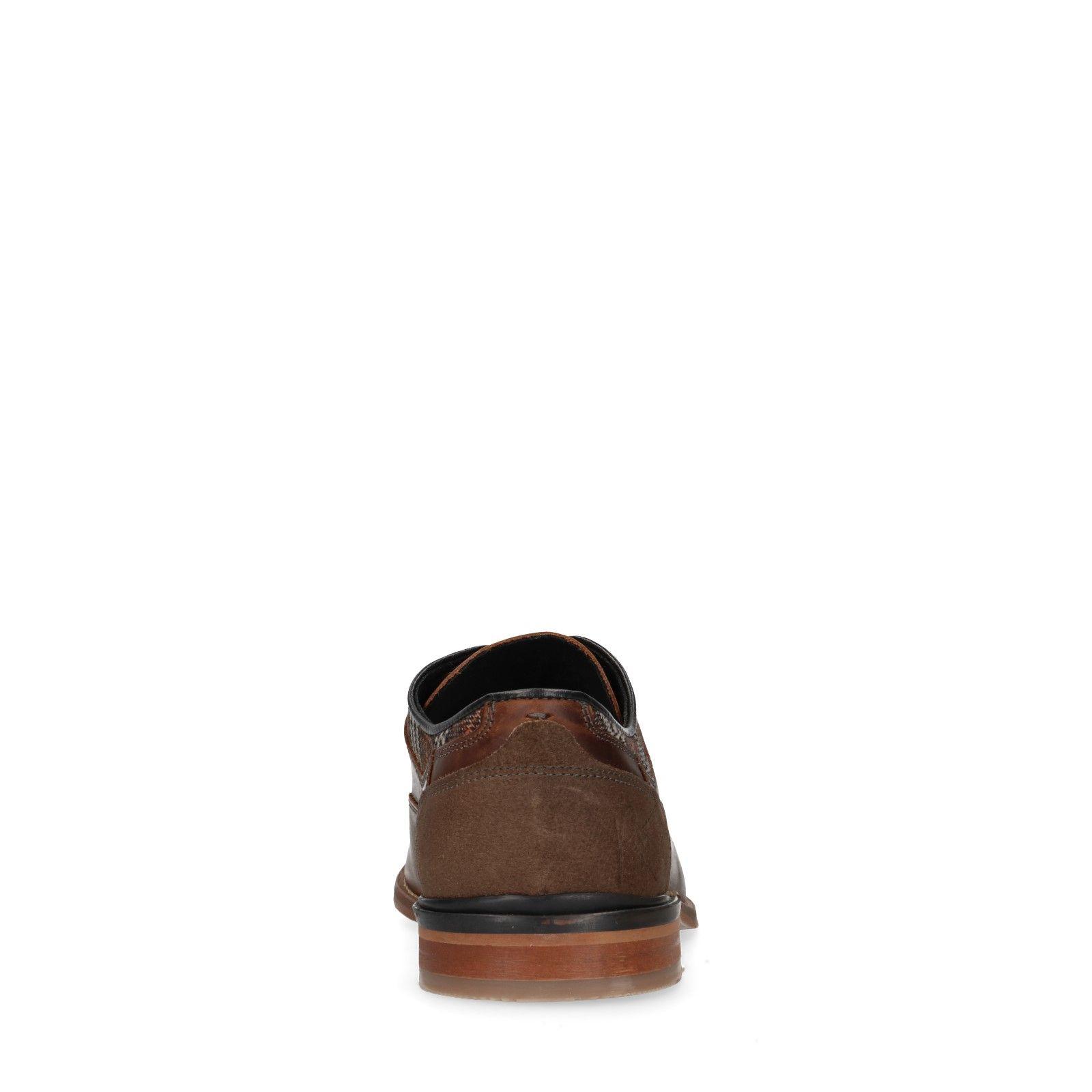 SACHA Marron Homme Élégantes chaussures à lacets avec
