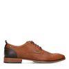 Chaussures à lacets synthétique avec contrefort foncé - marron