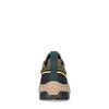 Baskets en cuir et daim avec détails colorés - marron