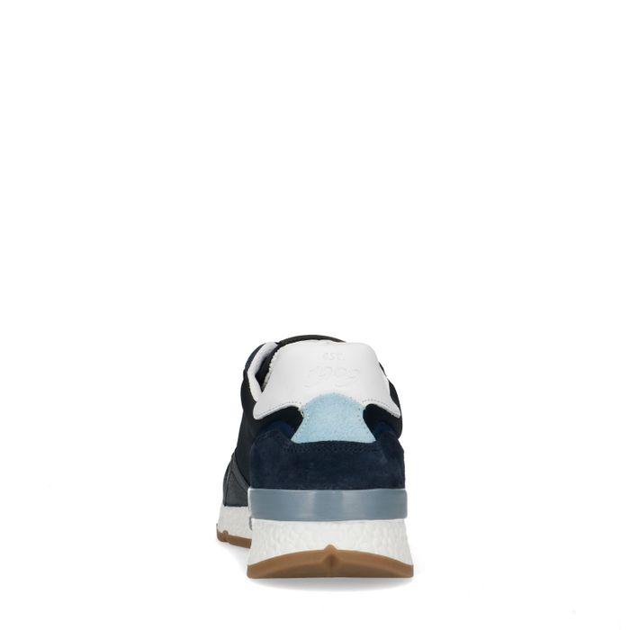 Baskets en cuir - bleu foncé