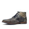Chaussures à lacets montantes en cuir - gris