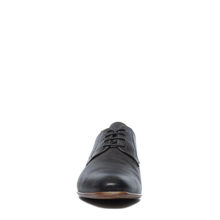 Chaussures à lacets en cuir avec motif - gris