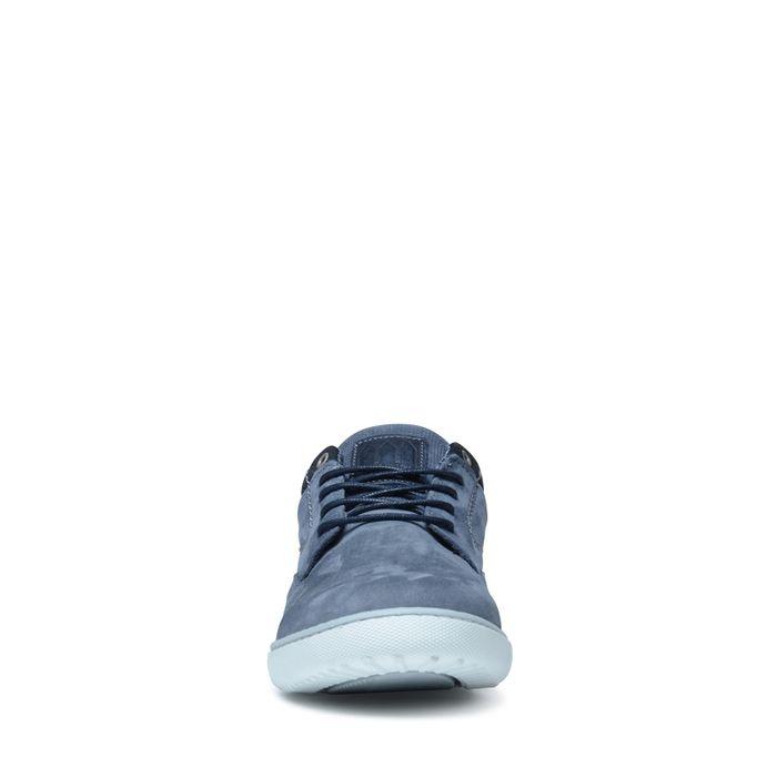 Baskets en cuir basses - bleu
