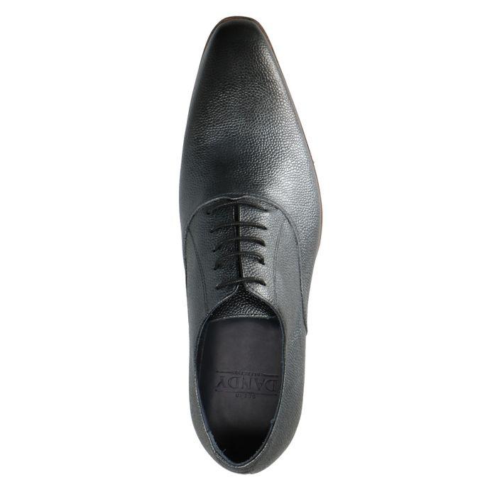 Chaussures à lacets en cuir avec imprimé serpent - gris foncé