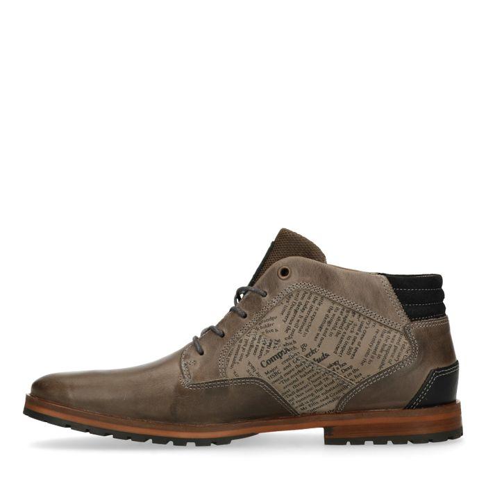 Boots à lacets avec détail - gris
