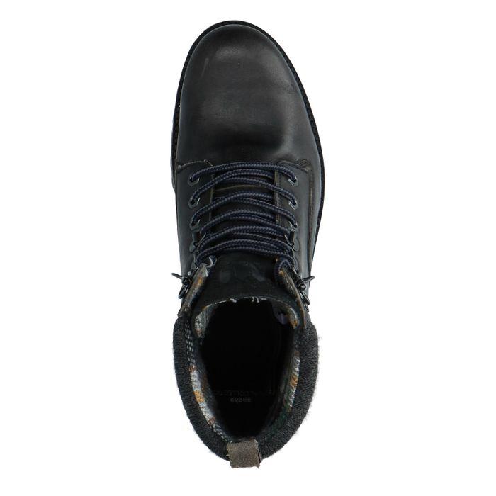 Boots à lacets en cuir - gris foncé