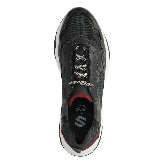 Dad shoes en cuir - gris foncé