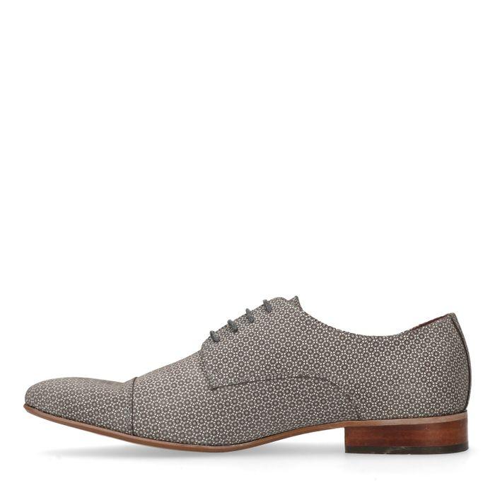 Chaussures à lacets avec motif - gris