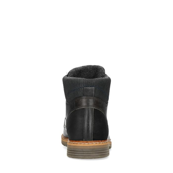 Boots à lacets en cuir - gris