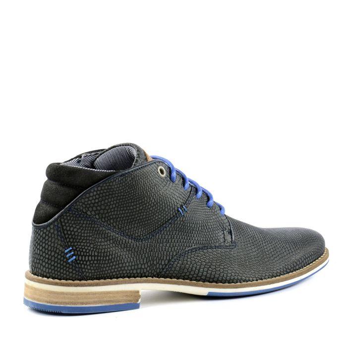 Chaussures à lacets en cuir décontractées - gris foncé