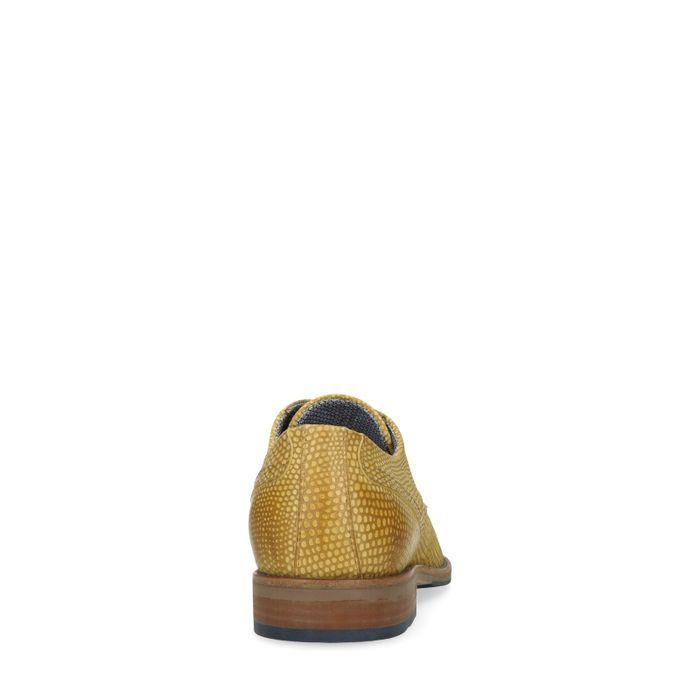Chaussures à lacets avec motif peau de serpent - jaune