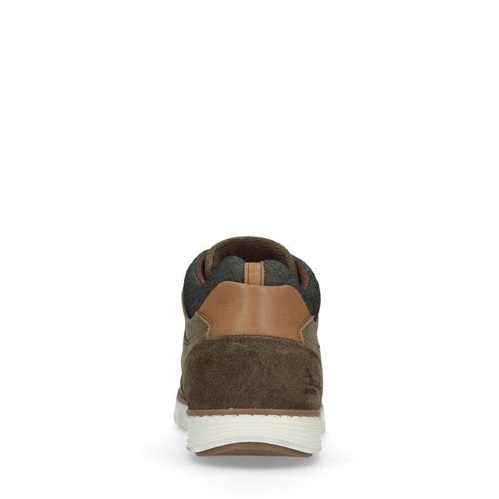 Baskets montantes en cuir - kaki