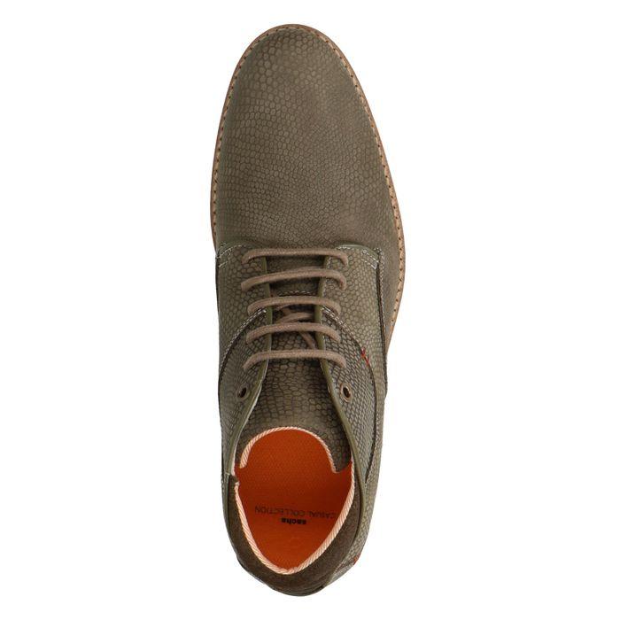 Boots à lacets en cuir - vert