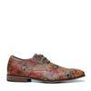 Chaussures à lacets avec imprimé fleuri - cognac