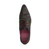 Chaussures à lacets en cuir avec imprimé - multicolore