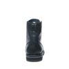 Boots à lacets en cuir avec empiècement - noir