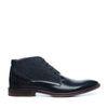 Boots à lacets en cuir avec détail - noir