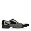 Chaussures à lacets cuir verni avec imprimé carreaux - noir