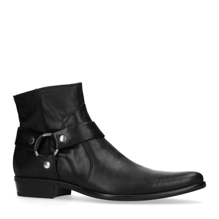 Boots en cuir basses - noir