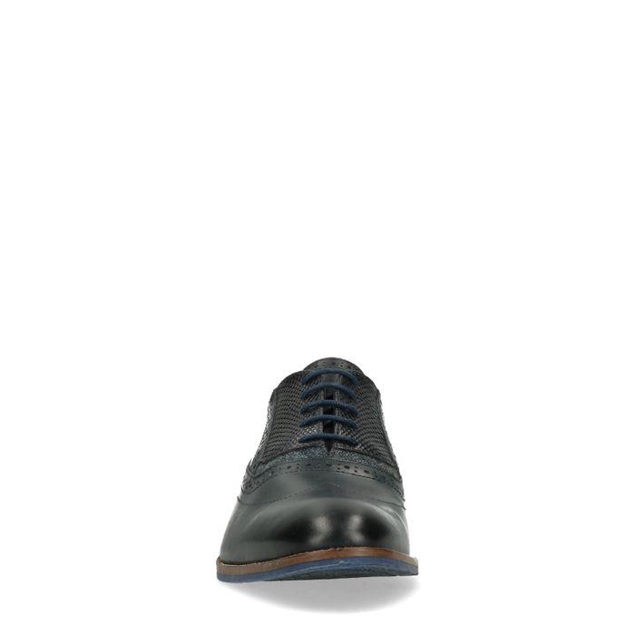 Chaussures à lacets avec détails - noir