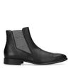 Chelsea boots avec motif à carreaux - noir