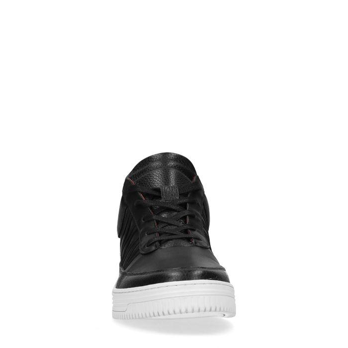 Baskets en cuir basses Sacha x Thomas Cox - noir