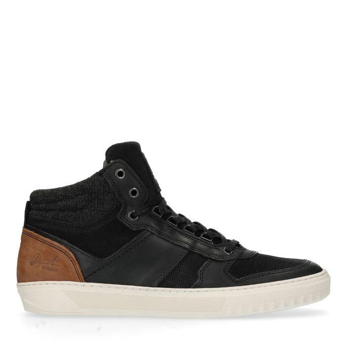 Baskets en cuir montantes - noir