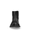 Boots en cuir basses avec broderies - noir